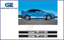 1 Paar MITSUBISHI  RACING - Auto Seiten Aufkleber - Sticker - Decal !<!>!