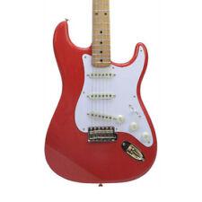 Guitarras eléctricas rojos madera maciza
