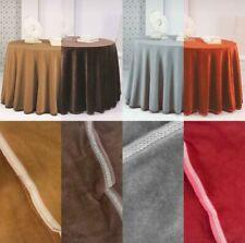 Falda para mesa camilla gris Invierno Redonda tejido suave y elegante 80cm