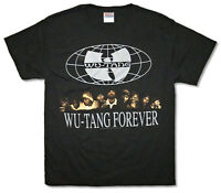 Wu Tang Clan Forever Group Pic Image Black T Shirt New Official Merch