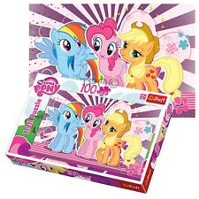 Trefl 100 Piece Kids Girls My Little Pony Rainbow Dash Friends Jigsaw Puzzle NEW