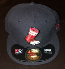 PAWTUCKET NEW ERA FITTED HAT MILB CAP SIZE 7 3/8 NWT BASEBALL PAWSOX RED SOX