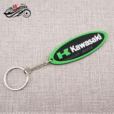 For Kawasaki Keychain Keyring Black Rubber Motorcycle bike Collectible Gift New