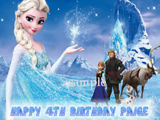 ELSA Edible ICING Image Birthday CAKE Decoration Topper Frozen FREE SHIPPING