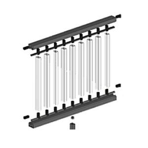 Black Composite Decking Handrail Kit