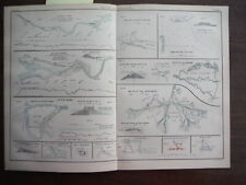 Antique Map of River Engineering from Encyclopaedia Britannica,  Ninth Edition..