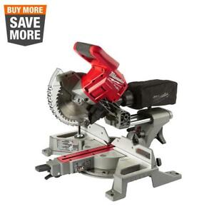 "Milwaukee M18 FUEL Cordless Dual Bevel Sliding Compound Miter Saw 7-1/4"" 18 Volt"