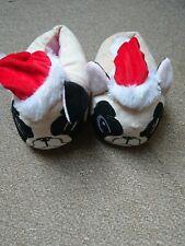 New look Ladies Christmas Pug Slippers Santa Dog Size Medium 4/5 used