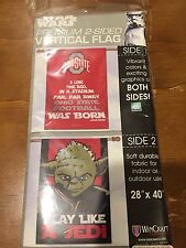 Ohio State Buckeyes Star Wars Yoda Play Like A Jedi Flag/Banner 28X40 Tail Gate