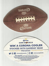"L.p. Lot Of 5 Corona  Beer Coasters= Modelo Of Mexico -""Football-win cooler 4 1/"