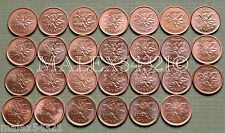1997 TO 2012 PENNY SET RED AU/UNC (27 COINS)        >>FREE $HIPPING IN CANADA!<<