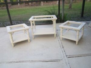 Vintage Hollywood Regency Allegro Living Room Tables Coffee And Two End Tables