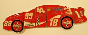 NASCAR Coca-Cola Racing Family Puzzle Pin Set - 6 Lapel Hat Pins Very Rare