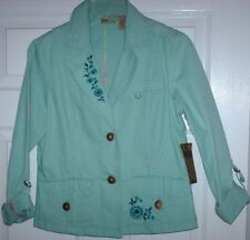 FALL/ WINTER/ SPRING Ladies Dress Jacket - 100% Cotton (Med) .. New w/ Tag