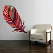Full Color Wall Decal Sticker Feather American Naitive (Col758)