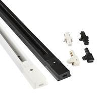 6Pcs/10Pcs 0.5m Sturdy Track Rail 2-Line Hard Orbit Strip Connector For LED Lamp