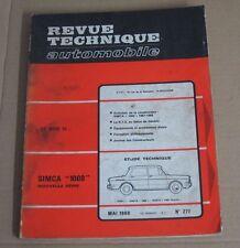 Revue technique  RTA 277 simca 1000 nouvelle série sim'4 spécial