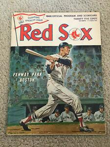 MANTLES LAST GAME YANKEES @ RED SOX PROGRAM 9/28/1968 SEPT 28 1968 EX+++ COND.