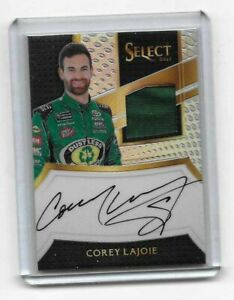 2017 Panini Select NASCAR Racing Signature Swatches Corey Lajoie MUST SEE!