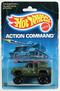 Hot Wheels Tail Gunner Action Command Series #4059 New NRFP 1986 Olive 1:64