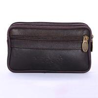Men's Mini Waist Bag Double Zipper Multi-card Slots Coin Purse Phone Bags Wallet