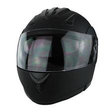Full Face Modular Motorcycle Helmet With Dual Visor DOT Approved Matte Black