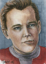 Star Trek Voyager Heroes & Villains Sketch Card by Connie Faye of Tom Paris