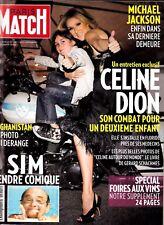 """Celine Dion """"Rare"""" Paris Match Magazine 2009 Mint 10 Pages"""