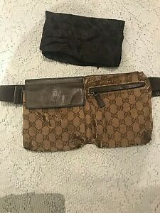 GUCCI Authentic GG Monogram Crossbody Waist Belt Bag Vintage