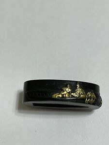 Antique Japanese Festival People in Boat Fuchi, Inv.#6
