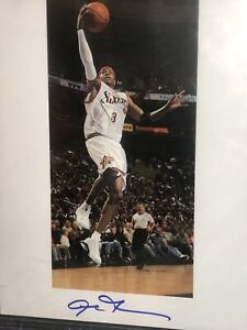 Allen Iverson 2020 leaf autographed Becketts 8x10 basketball photograph