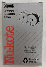 NuKote BR80N Universal Calculator Ribbon - Black & Red - .5in x 19.03 ft - New