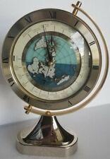 Seiko Rotational World Globe Quartz Clock Qqz292G Mantel Desk Japan Vintage
