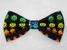 Video Game Bow tie / Space Aliens on Black / Arcade Game / Pre-tied Bow tie