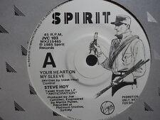 """Steve Hoy """"Your Heart On My Sleeve"""" Rare PROMO Oz 7"""""""