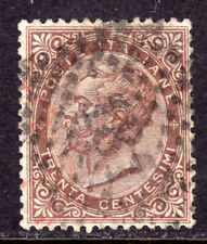 ITALY #30 30c BROWN, 1863, F, USED