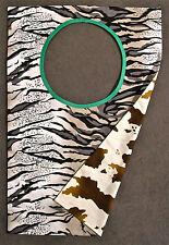 witzige Umhänge-Serviette mit Zebra und Kuhfell-Muster, 2-seitig nutzbar, NEU