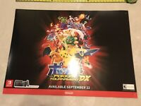 Pokken Tournament DX BANNER 36x26 Gamestop Promo Poster Nintendo Switch Game Wii
