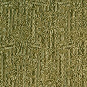 15 Paper Party Napkins Elegance Olive Green Pack of 15 3 Ply Embossed Serviettes
