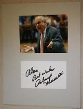 1973-92 Villanova U. Coach Rollie Massimino signed/autographed card & photo set*