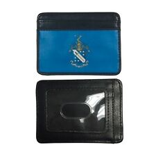 Phi Delta Theta Slim Wallet Credit Card Case with Crest Phi Delt