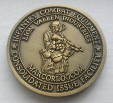 USMC Infantry Combat Equipment Lion Vallen Industries Challenge Coin