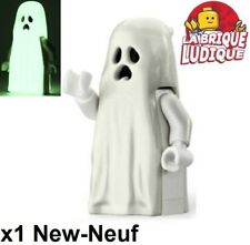 Lego Figurine Minifig ghost fantôme jambe courte (brick leg) gen046 10228 NEUF