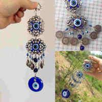Blue Evil Eye Hamsa Hand Amulet Wall Room Protection Turkish Lucky Pendant Gift