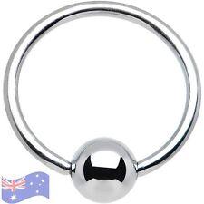 1 x Captive Bead Ball Ring CBR Eyebrow Bar Nose 316L Surgical STEEL 18g 8mm C