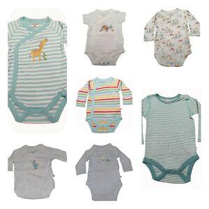 Ex Frugi Organic Cotton Bodysuits Vests Rompers Kimono unisex Baby 0-4 years NEW