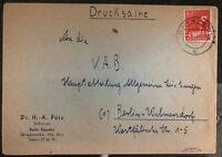 1949 Berlin Germany AMG Cover Domestic Used Allied Zone