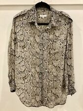 Equipment Sheer 100% Silk Python Blouse - Size Small
