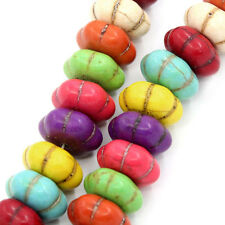 Turchese ZUCCA forma Beads Strand di 28 Perline Gioielli rendendo da 14 mm x da 14 mm