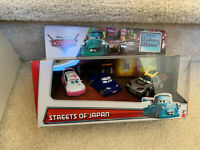 STREETS OF JAPAN Diecast 3-Pack DISNEY CARS Y7313 Kabuto Ninja Flames Cho NEW